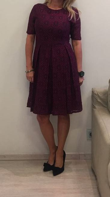 Платье бордовое кружево ANONYME арт.U37FD041