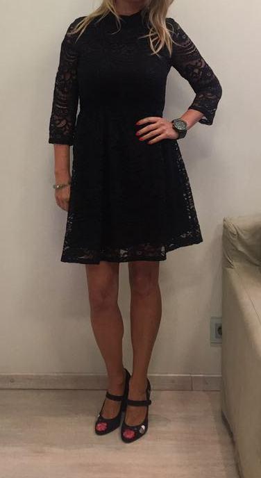 Платье черное кружево ANONYME арт.U27FD037