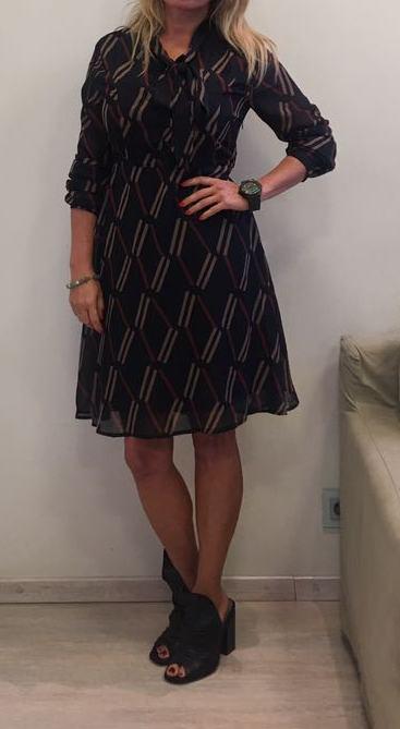 Платье черное с бантом ANONYME арт.R17FD056