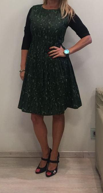 Платье-сарафан зеленое ANONYME арт.U37FD010