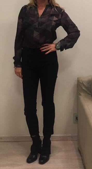 Блуза коричневая-хаки ANONYME арт.U27FТ017