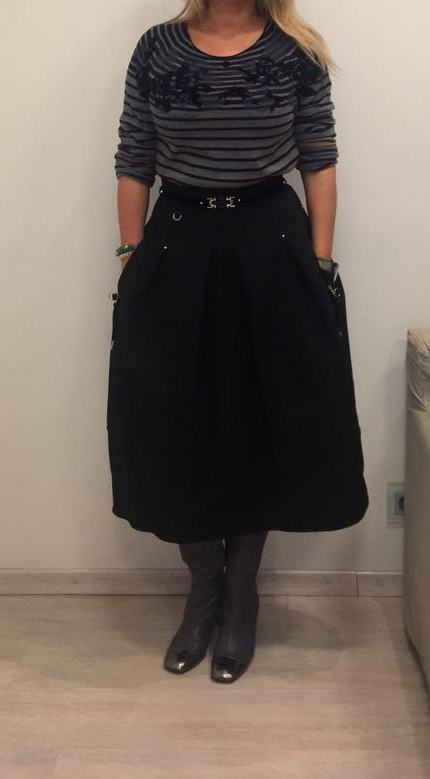Юбка черная HIGH арт.S20200