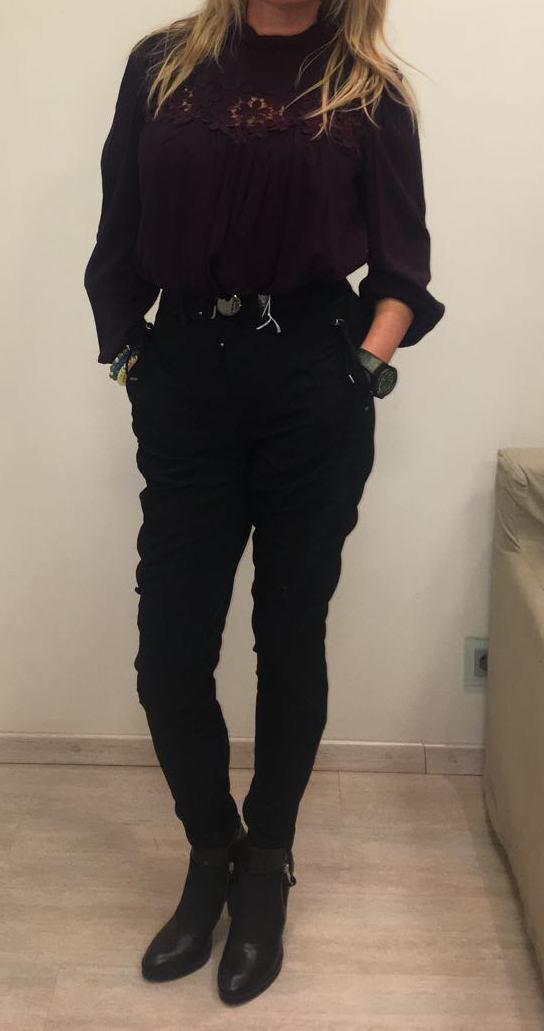 Блузка бордовая HIGH арт.750565