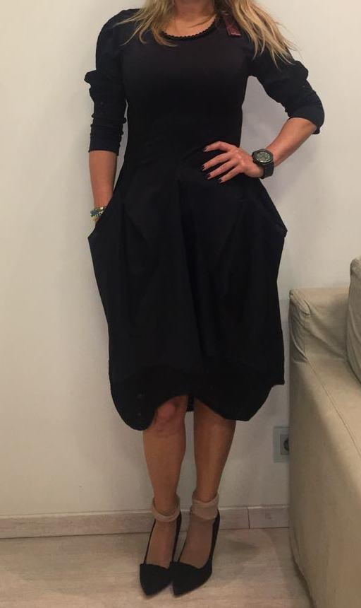 Платье черное HIGH арт.S21385