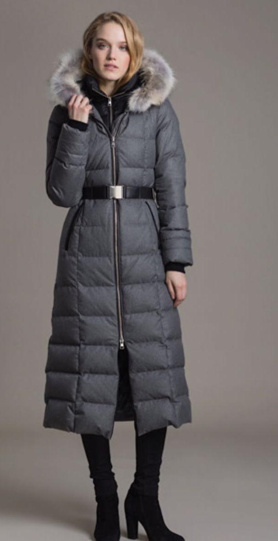 Пальто пуховое серое SOIA&KYO арт. MARINA-FX