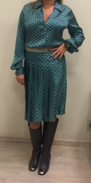 Блузка бирюзовая KRISTINA EFFE арт.0134