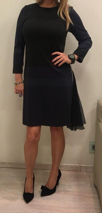 Платье черно-синее KRISTINA EFFE арт.0751