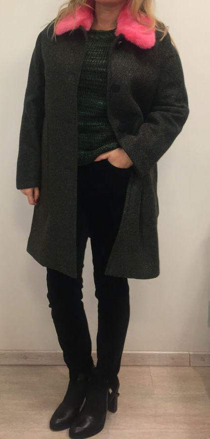 Пальто зеленое SFIZIO арт.2052
