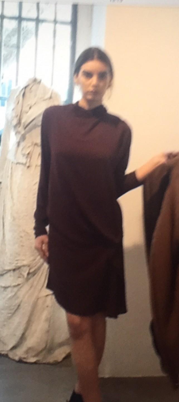Платье бордовое Malloni 032FO