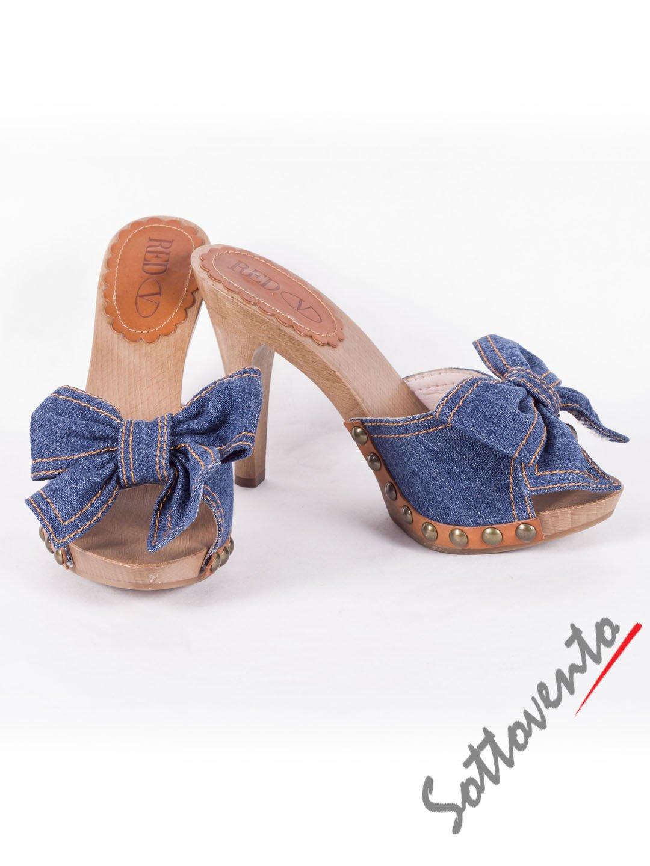 Сабо синие  джинсовые  Valentino Red 0.82
