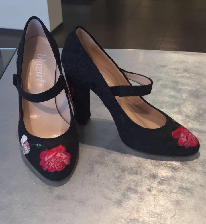 Туфли с вышитыми цветами Blugirl Blumarine арт.64003