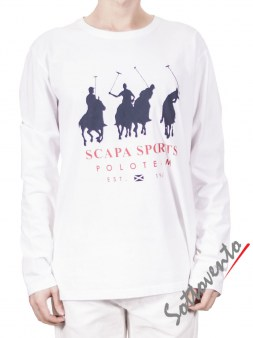 Поло белый  Scapa Sport 3SMYQIMIJERS Image 0
