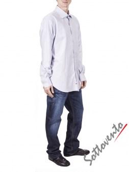 Рубашка светло-серая COMO FIRENZE  Giovanni Rosmini Image 4