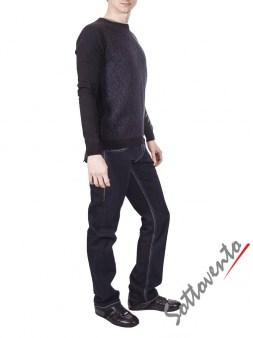 Свитер черно-серый  Richmond 2219. Image 3