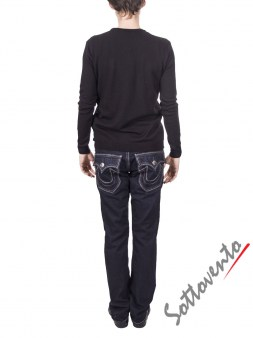 Свитер черно-серый  Richmond 2219. Image 4