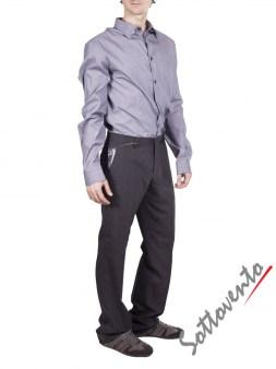 Рубашка  серая  Richmond 3441. Image 4