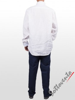 Рубашка белая Cycle Men MCM150. Image 4