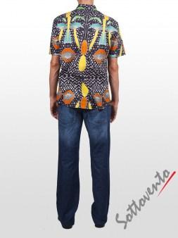 Рубашка чёрно-жёлтая  Richmond 3402. Image 4