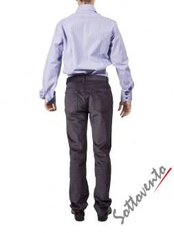 Рубашка голубая Giovanni Rosmini PLATINO264. Image 4