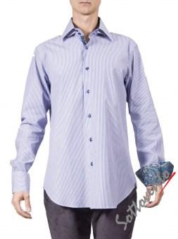 Рубашка голубая Giovanni Rosmini PLATINO264. Image 0