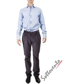 Рубашка голубая Giovanni Rosmini PLATINO266. Image 2