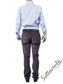 Рубашка голубая Giovanni Rosmini PLATINO266. Image 4