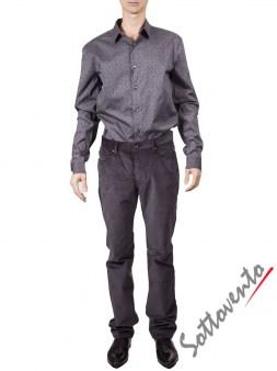 Рубашка серая   Varvatos W459. Image 2
