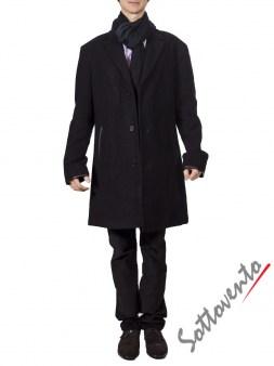 Пальто чёрное  Varvatos 0897. Image 1