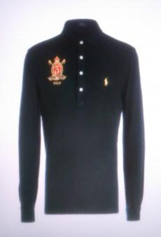 Поло синее с длинным рукавом с гербом  Ralph Lauren арт.A12XZ7ZG Image 0