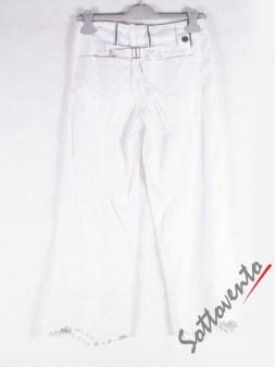 Брюки-капри белые  High 701250. Image 3