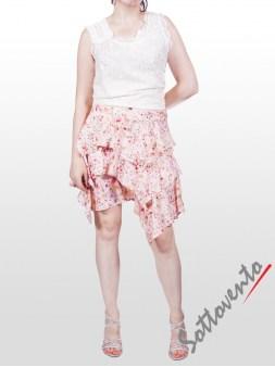 Юбка розово-белая Blugirl Folies 8776. Image 3