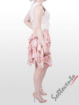 Юбка розово-белая Blugirl Folies 8776. Image 4