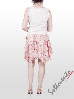Юбка розово-белая Blugirl Folies 8776. Image 5