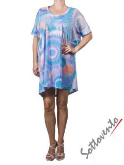 Платье  розово-бирюзовое Matthew Williamson М050. Image 1