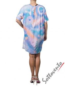 Платье  розово-бирюзовое Matthew Williamson М050. Image 2