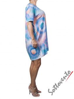 Платье  розово-бирюзовое Matthew Williamson М050. Image 3