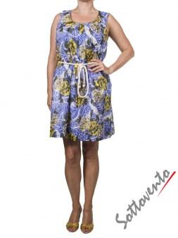 Платье жёлто-коричнево-голубое Matthew Williamson М061. Image 1