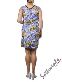 Платье жёлто-коричнево-голубое Matthew Williamson М061. Image 2