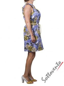 Платье жёлто-коричнево-голубое Matthew Williamson М061. Image 3
