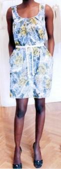 Платье жёлто-коричнево-голубое Matthew Williamson М061. Image 0