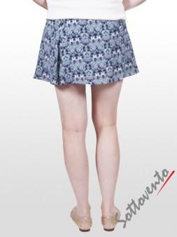 Юбка-шорты бело-синяя Faith Image 2