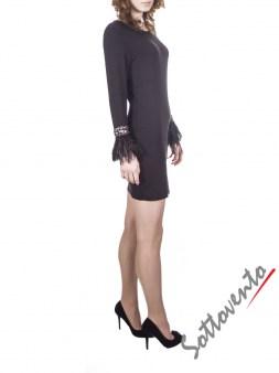 Платье  чёрное Philipp Plein 2911. Image 3