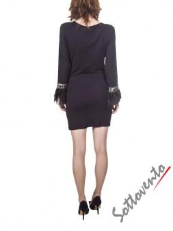 Платье  чёрное Philipp Plein 2911. Image 2