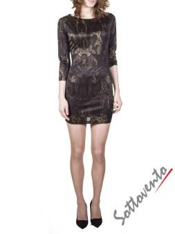 Платье коричневое  Philipp Plein 2301. Image 0