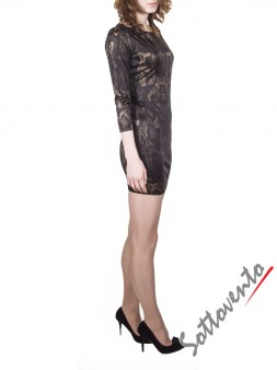 Платье коричневое  Philipp Plein 2301. Image 2
