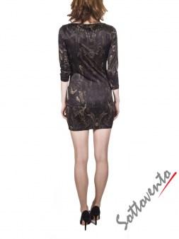 Платье коричневое  Philipp Plein 2301. Image 1