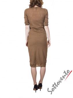 Платье светло-коричневое с кружевом  Ermanno Scervino Street 654. Image 1