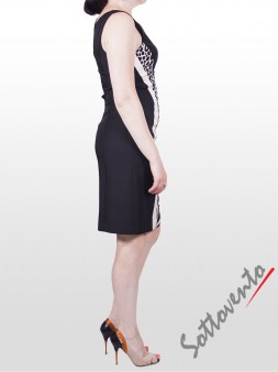 Платье чёрно-белое  I'M Isola Marras 321271. Image 2