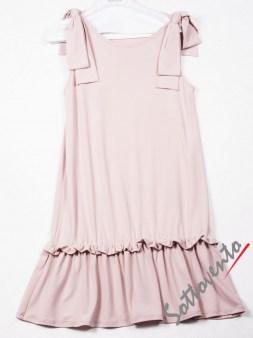 Платье  розовое Valentino Red ANA801. Image 3
