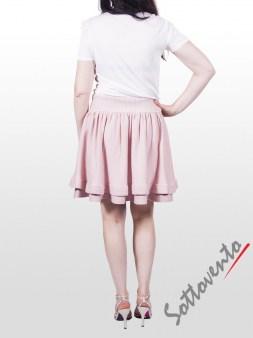 Юбка розовая  Valentino Red 9Е852. Image 4